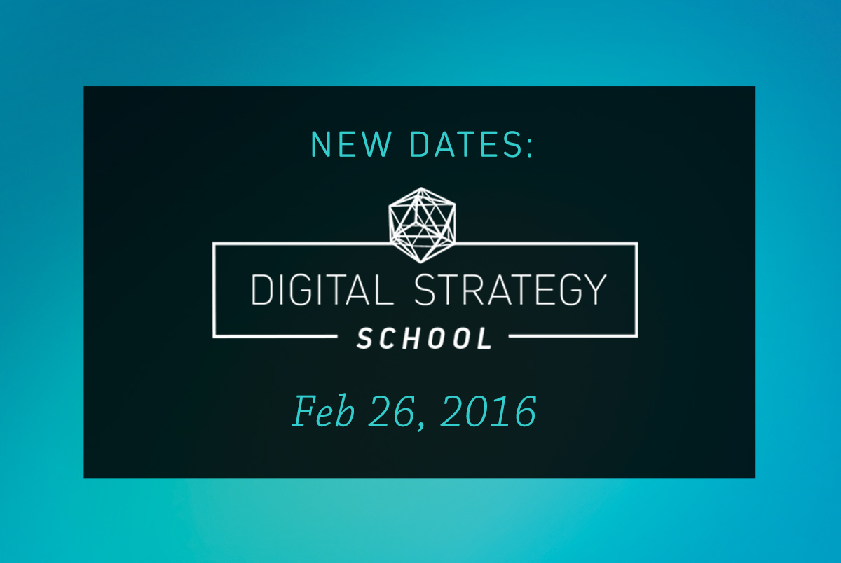 New Dates for Digital Strategy School Mastermind